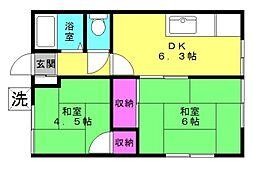 高橋荘[1naka号室]の間取り