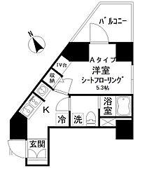 アイディ西五反田 4階1Kの間取り