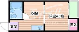 ハイツA1[5階]の間取り