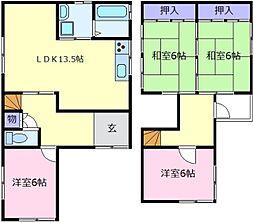 [一戸建] 大阪府堺市東区日置荘北町2丁 の賃貸【/】の間取り