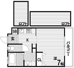H・Cフラッツ須磨関守[2階]の間取り