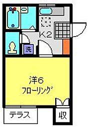 ハイツTAGUCHI[202号室]の間取り