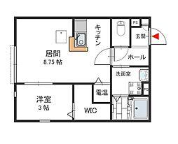 ルミディオ東須磨[2階]の間取り