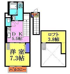 埼玉県戸田市下前2丁目の賃貸アパートの間取り