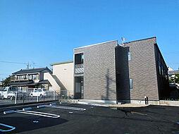 愛知県岡崎市大平町字中道の賃貸アパートの外観