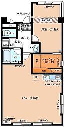桑島ビルA[601号室]の間取り