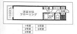 ヒルズ西赤坂[205号室]の間取り