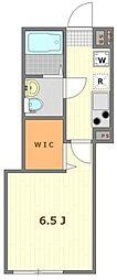 (仮称)大鳥居12世帯アパート 2階1Kの間取り