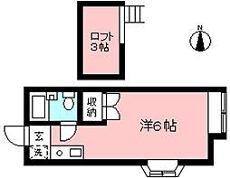 マノワールプペ[2階]の間取り
