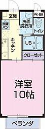 愛知県知立市新池1丁目の賃貸アパートの間取り