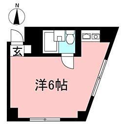 ユーハ上北沢マンション[102号室]の間取り