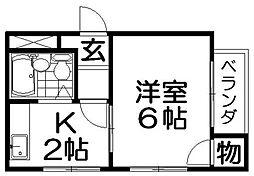 ブルーレイク長尾[2階]の間取り
