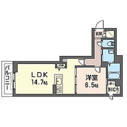 仮)ベレオ・フジコート新松戸 3階1LDKの間取り