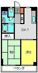 グリーンハイツ南軽井沢[101号室]の間取り