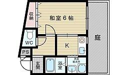 シェリール東淀川[1階]の間取り