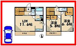 柚子季III 2階2LDKの間取り