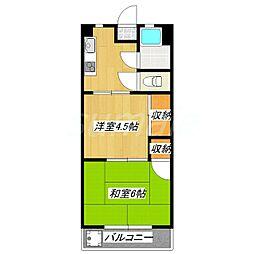 鈴木マンション[404号室]の間取り