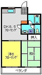 レジデンス・デュー[3階]の間取り