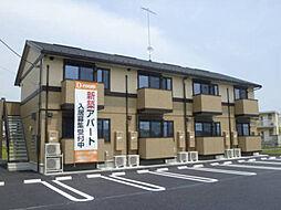 茨城県筑西市一本松の賃貸アパートの外観