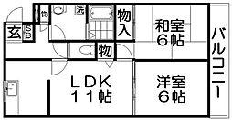 サニーコート山本[3階]の間取り