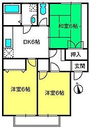ユートピア駒崎A棟[2階]の間取り