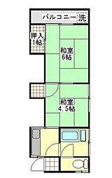 上石神井フラッツ[2階]の間取り