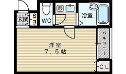 ソレーユ大安[4階]の間取り