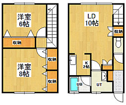 [テラスハウス] 北海道小樽市緑1丁目 の賃貸【/】の間取り