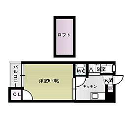 シティハイム春日原Ⅱ[2階]の間取り