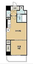 西武新宿線 久米川駅 徒歩1分の賃貸マンション 8階1DKの間取り