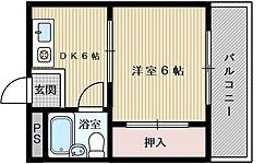 アイバレー新大阪[7階]の間取り