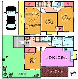 [一戸建] 千葉県市川市八幡5丁目 の賃貸【/】の間取り