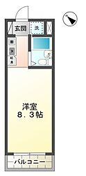 愛知県豊田市土橋町5丁目の賃貸マンションの間取り