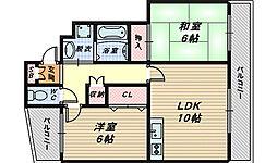 メゾンリブラ[8階]の間取り