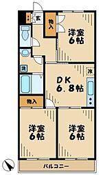 東京都多摩市連光寺5丁目の賃貸マンションの間取り