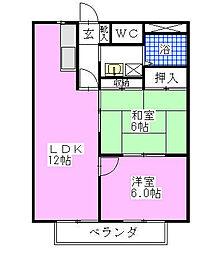 シティハイツSUZUKI[202号室]の間取り