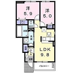 ストロベリーハウスIII[1階]の間取り