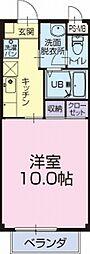 愛知県知多郡東浦町大字森岡字濁池の賃貸アパートの間取り