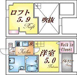 ルミエ神戸西[2階]の間取り