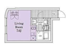 ノゾミオプレミア目黒 3階ワンルームの間取り