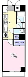 アンジュフローリア[5階]の間取り
