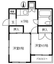 大関ビル[3階]の間取り