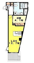 東京都世田谷区粕谷1丁目の賃貸マンションの間取り