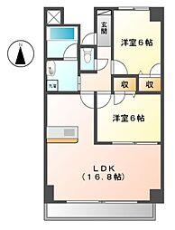 愛知県豊田市東新町2丁目の賃貸マンションの間取り