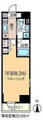 プラウドフラット木場II 3階1Kの間取り