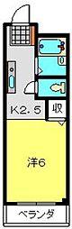 神奈川県横浜市旭区中希望が丘の賃貸アパートの間取り