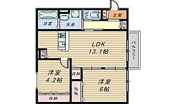 Kaorigaoka Joy[1階]の間取り