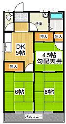 桜田コーポA[203号室]の間取り