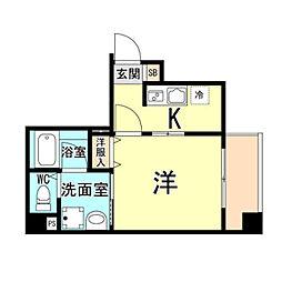 神戸市海岸線 ハーバーランド駅 徒歩10分の賃貸マンション 5階1Kの間取り