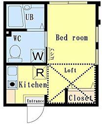 GH二俣川アパートメント[2階]の間取り